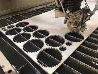 Гидроабразивная резка алюминия