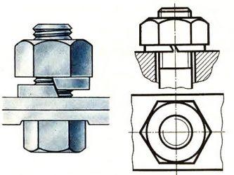 Болтовое соединение с пружинной шайбой - Металлы и металлообработка