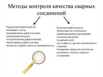 Этапы контроля качества сварных соединений